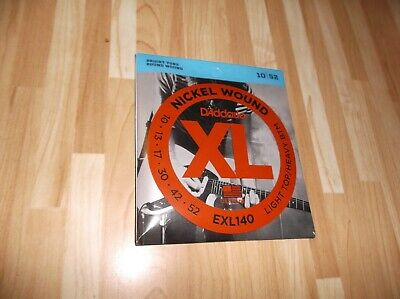 $ CDN8.75 • Buy (01) Set D Addario Light Top/heavey Btm Electric Guitar Strings10-52 EXL140