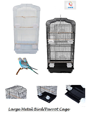 £34.99 • Buy 37  Rooftop Metal Large Bird Parrot Cage For Canary Budgie Cockatiel 2 Colours