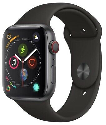$ CDN374.65 • Buy Apple Watch Series 4 44 Mm Space Gray Case With Black Sport Band GPS + Cellular