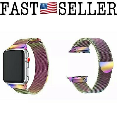 AU18.49 • Buy Milanese Magnetic Loop Rainbow Replacement Band Strap For Apple Watch - 42mm