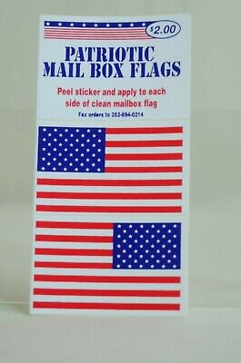 $1 • Buy Patriotic Mail Box Flags Stickers For Mailbox Flag