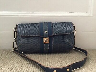 Lanvin Blue Python Snakeskin Bag Vgc With Dust Bag • 375£