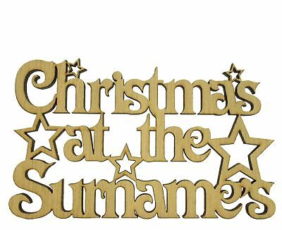 Oak Personalised Christmas At The Sign With Stars Tree Decoration Family Gifts • 5.99£