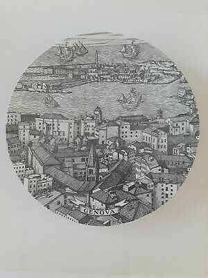 $175 • Buy Vintage Fornasetti Plate Genova 'Cities Of Italy'  Piero Fornasetti 10 1/4