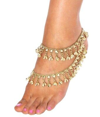 £17.96 • Buy Jingle Bell Chain Anklet Ankle Bracelet Tribal Fusion Jewelry-Gold Set(1 PAIR)