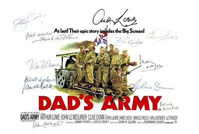 £2.99 • Buy DADS ARMY. Poster Cast Multi Signed Autograph PRINT 6x4 GIFT