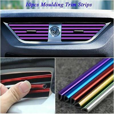 AU3.60 • Buy 10x Car Auto Air Conditioner Air Outlet Accessories Decor Colorful Strip Kits