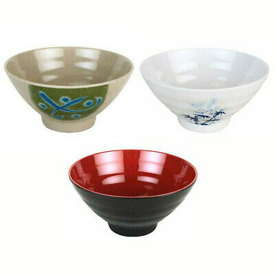 $13.99 • Buy Set Of 4 Japanese Restaurant Bamboo Melamine Rice Bowl 4.75 Inches New