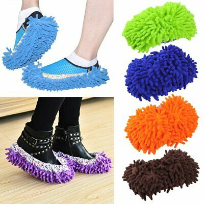 1 Pair Home Mop Sweep Floor Cleaning Duster Cloth Housework Soft Slipper#^ • 4.04£