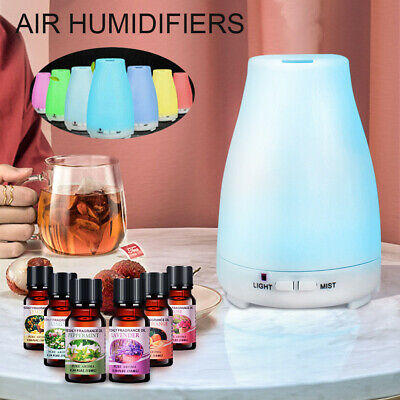 AU35.99 • Buy LED Essential Oil Humidifier Ultrasonic Diffuser Aroma Aromatherapy Air Purifier