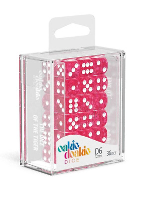 AU22.84 • Buy Oakie Doakie Dice D6 12 Mm Speckled Pink 36pc