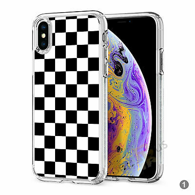 Checkered Squares Gel Silicone Case Cover For Apple IPhone Samsung Huawei 083-1 • 5.90£