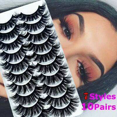 AU3.84 • Buy 10 Pair 3D Mink Natural Fake Eyelashes Long Thick Mixed False Lashes Makeup Nude