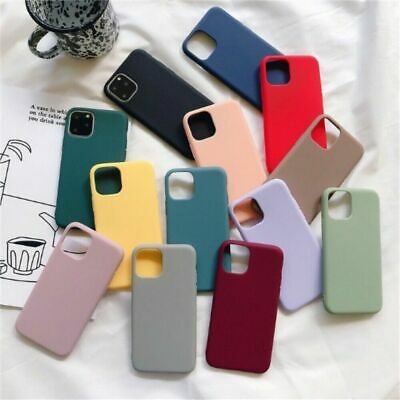 For Apple Silicone Case IPhone X XR XS MAX 6s 8 7 & Plus Slim TPU Soft Rubber UK • 3.55£