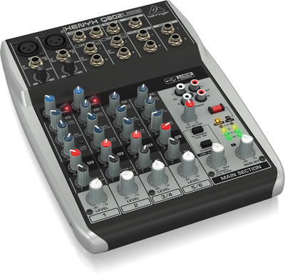 $ CDN228.69 • Buy Behringer Q802USB Xenyx 8-Input 2-Bus Mixer With USB/Audio Interface