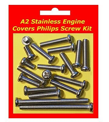 Stainless Philips Engine Covers Kit - Yamaha YDS7 • 12.95£