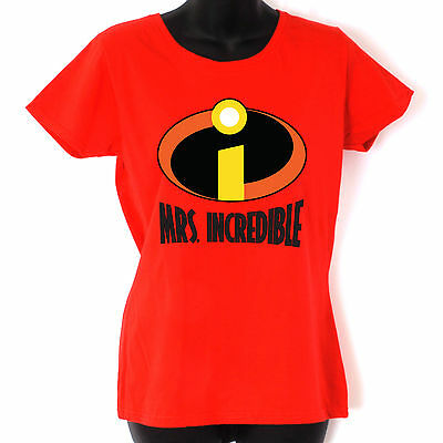 Mrs INCREDIBLES Womens Girls T Shirt Classic Comic Super Hero T-shirt • 11.99£