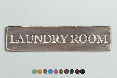 LAUNDRY ROOM Vintage Style Wooden Sign. Shabby Chic Retro Home Gift • 13.95£