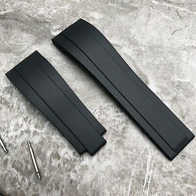 Aftermarket 20MM Black Silicone Rubber Watch Strap Band For Rolex OYSTERFLEX • 18£