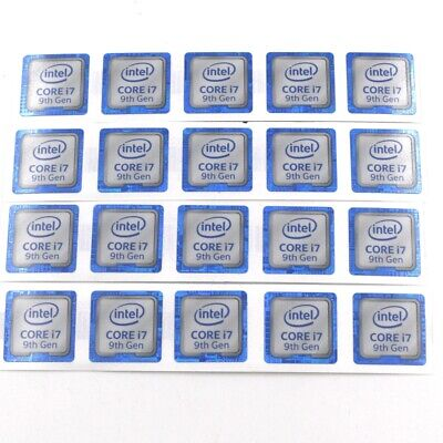 $ CDN66.90 • Buy 100pcs  New Core I7 9th Gen Sticker Badge Label For PC Laptop ST087