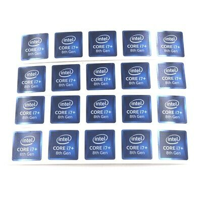 $ CDN124.01 • Buy 1000X  Laptop Sticker CORE I7+ 8th Gen 18*18mm Badge Label Decal Dark Blue ST097