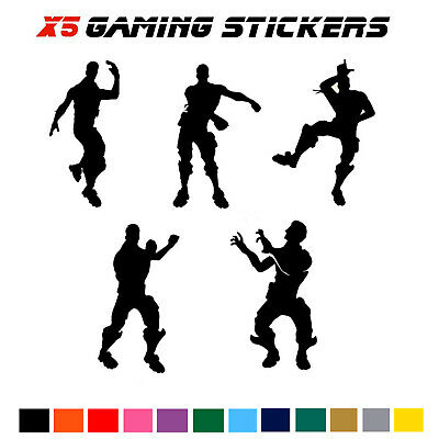 X5 Nite Xbox Dancing Men Wall Vinyl Stickers SIZE 12CM Tall, Fort Water Bottles  • 3.49£
