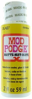 Mod Podge Matte Water Base Decoupage Sealer Glue Finish Quick Dry Clear 20X New • 7.99£