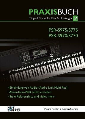 AU51.55 • Buy The Practice Book For Yamaha PSR-S970/975 770/775 Keyboard Band 2 Voice German