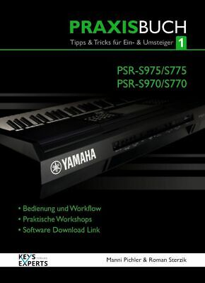 AU51.55 • Buy The Practice Book For Yamaha PSR-S970/975 770/775 Keyboard Band 1 Voice German