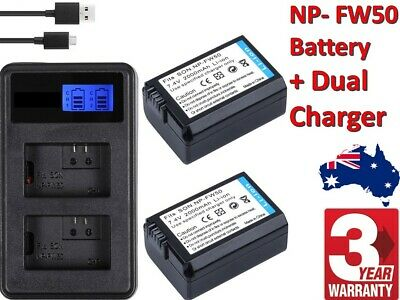 $ CDN28.07 • Buy 2x NP-FW50 Battery & Charger For SONY Alpha A5000,A5100,A6000,A6300,A6500