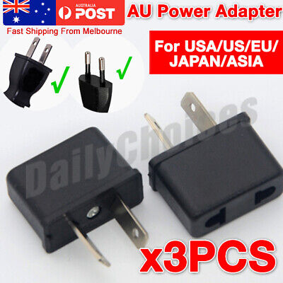 AU5.69 • Buy 3x USA US EU JAPAN ASIA To AU Australia Plug AC Power Adapter Travel Converter