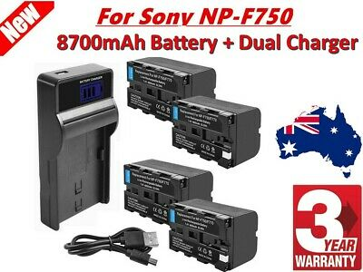 AU39.98 • Buy 8700mAh NP-F960 Battery / LCD Charger For Sony NP-F970 NP-F950 NP-F770 Camera EG