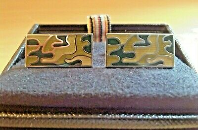 £49.99 • Buy Paul Smith Men's Camouflage And Silver Cufflinks BNWT