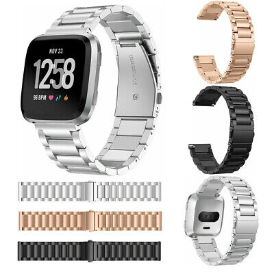 $ CDN14.36 • Buy For Fitbit Versa Fashion Premium Stainless Steel Metal Bracelet Watch Band Strap