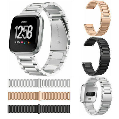 $ CDN14.73 • Buy For Fitbit Versa Fashion Premium Stainless Steel Metal Bracelet Watch Band Strap