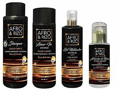 £64.43 • Buy Afro & Rizo Hair Care (4pcsCOMBO-STYLING-MOUSSE&SHAMPOO&LEAVE-IN&SCULPTING-GEL)