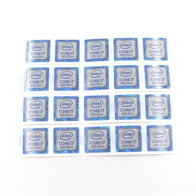 $ CDN8.02 • Buy 20pcs  New Laptop PC DIY CORE I7 8th Gen 18*18mm Sticker Label Decal Badge ST085
