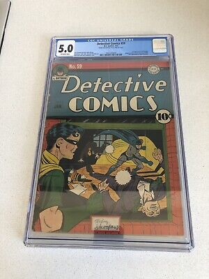 AU2250 • Buy Detective Comics #59 CGC 5.0 - 2nd Appearance Of Penguin - Golden Age 1 / 1942