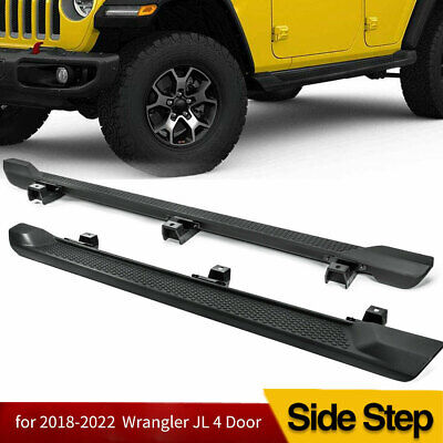 For 2018-2020 Jeep Wrangler JL 4DR 6  Nerf Bar Side Step Running Board OE Style • 127.49$