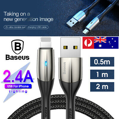 AU8.99 • Buy Baseus Lightning Charging Cable Fast Charger Cord For IPhone XS XR 8 7 6 IPad