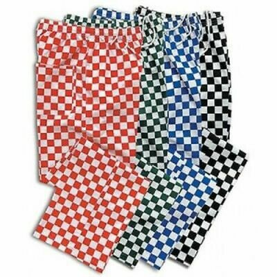 Chefs Trousers Pull Up Elasticated Waist With Drawstring Adjustment Free P+P • 10£