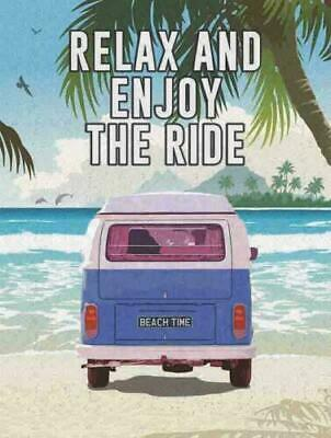 £14.55 • Buy VW Camper Van Sign 30x40cm Metal Wall Art Plaque Relax & Enjoy The Ride