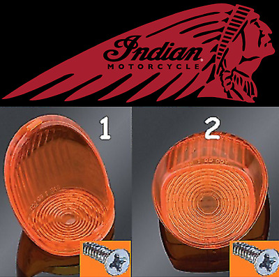 $12.72 • Buy Indian Motorcycle Gilroy (2000-2003) Turn Signal Lens PT#68-007 (QTY 2)