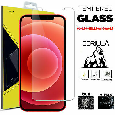 For IPhone 12 Pro Max 11 7 6 5 8 Plus SE Geniune Tempered Glass Screen Protector • 2.69£