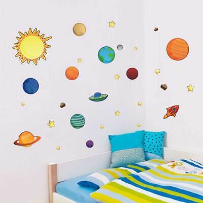 Solar System Planet Removable Wall Sticker Kids Nursery Decor Baby Cot Decal Art • 6.66£