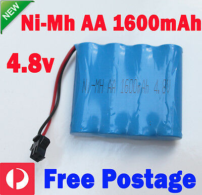AU9.99 • Buy 4.8V 1600mAh AA Ni-MH Rechargeable Battery Pack SM Port For RC Vehicle Truck Toy
