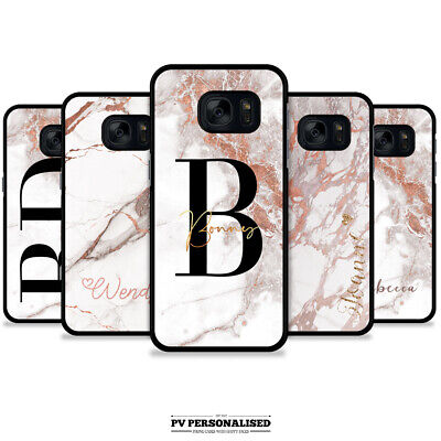 $ CDN9.78 • Buy Personalised Initials Marble Name Phone Case Cover For Samsung S7 S8 S9 S10 +