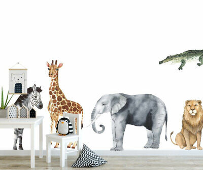 Set Of 8 Pcs Wonderland Animals Wall Sticker Baby Cot Nursery Decor Decal Art • 40£