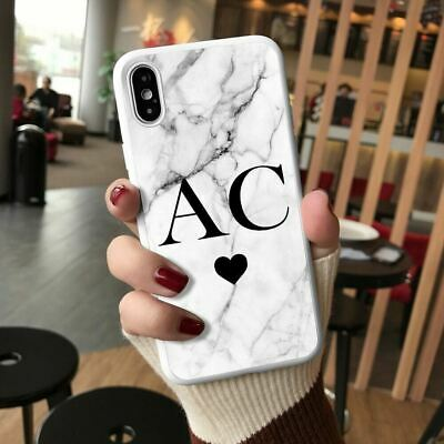 Personalised Marble Phone Case Cover For Apple IPhone Initial Text Name 019-9 • 4.90£
