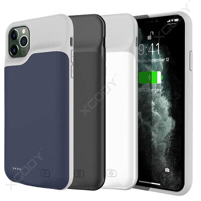External 6000mAh Battery Charger Case For IPhone 11 Pro Max Charging Power Cover • 22.11£